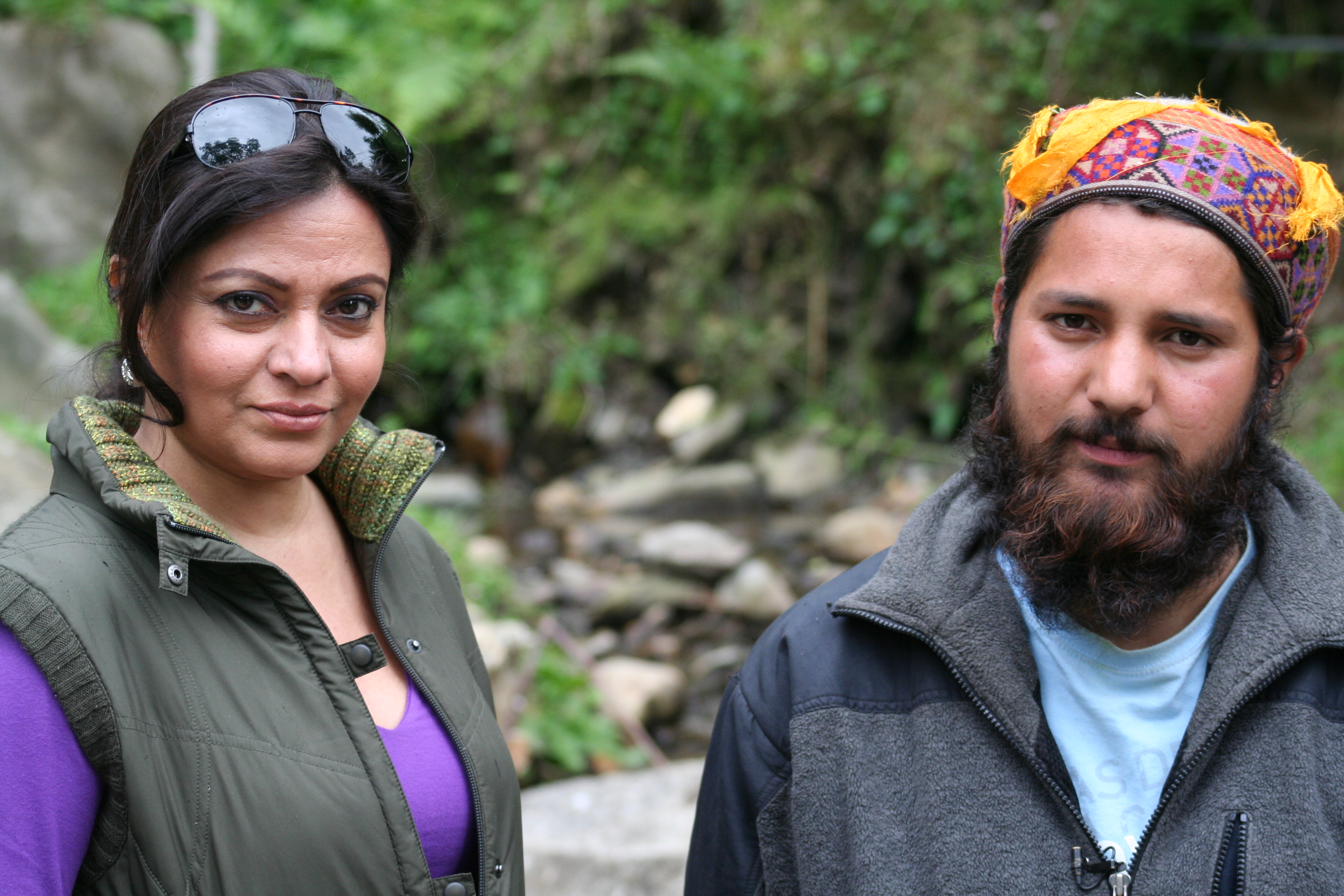Anu Malhotra, Filmmaker on location, with Himachali shaman, Gur Inderchand 35