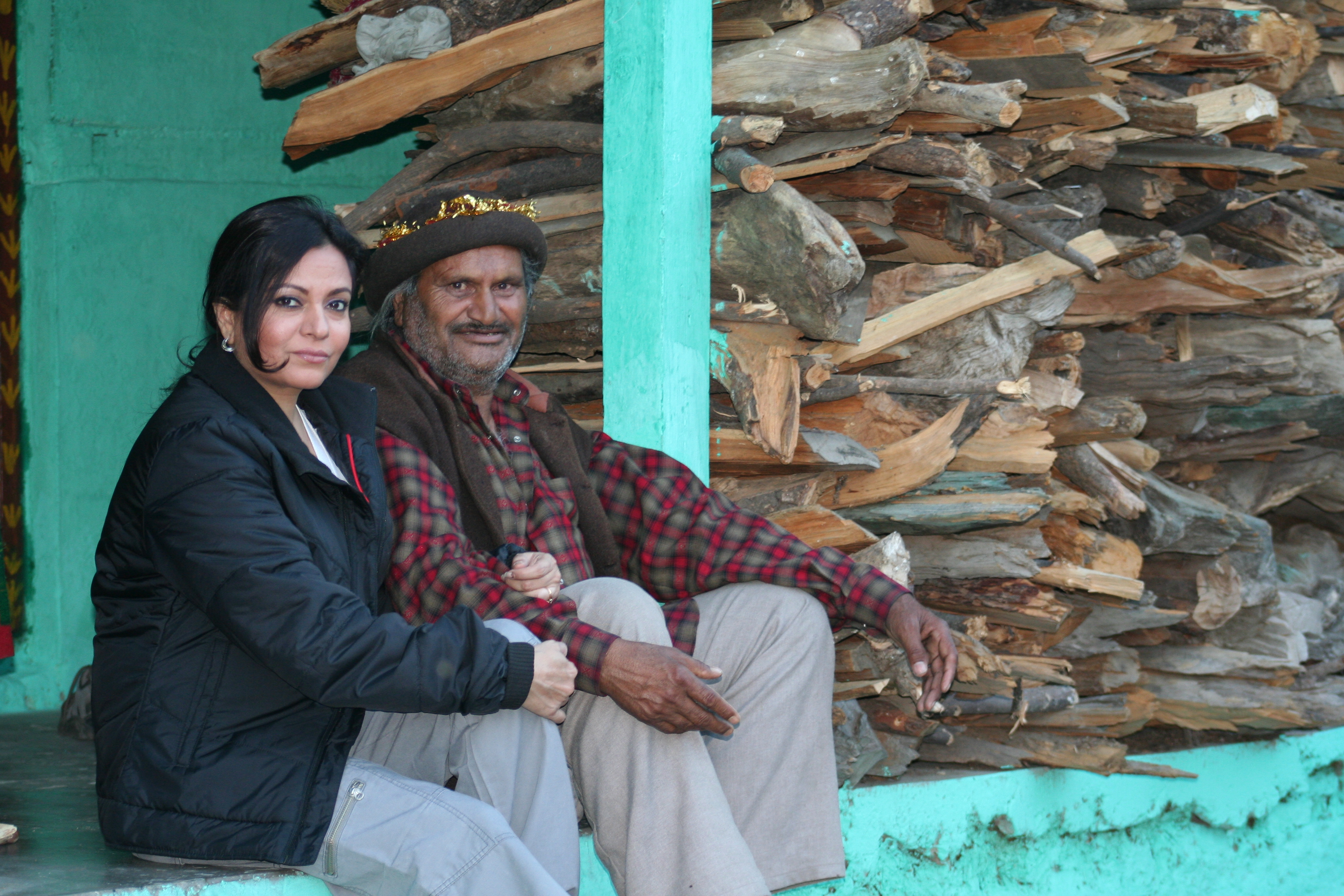 Anu Malhotra, Filmmaker, with Himachali Shaman, Gur Tularam 36