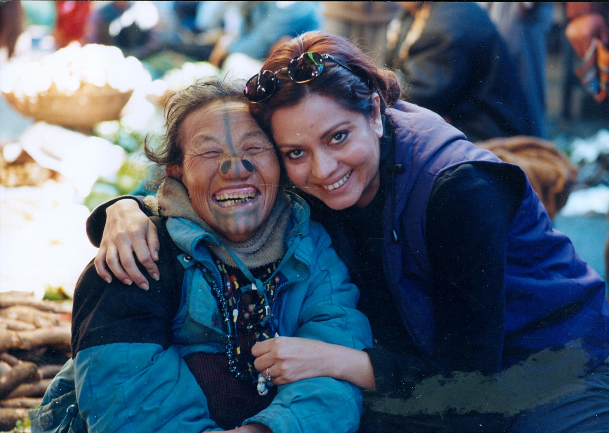 Anu Malhotra with Apa Tani Woman, Ziro Arunchal Pradesh, 2000
