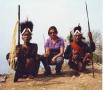 Anu Malhotra with Konyak Headhunters of yore, Longwa Village, Nagaland, 2001