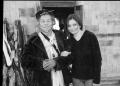 Anu Malhotra with a Nyibo (Shaman), Lempia Village, Arunachal Pradesh, 2000