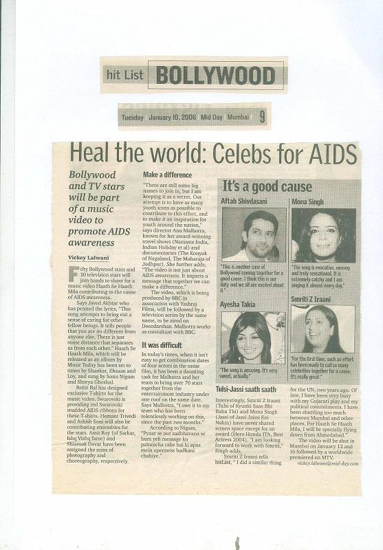 Hit List Bollywood Tuesday January 10, 2006