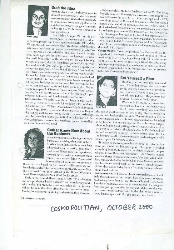 Cosmopolitian October 2000