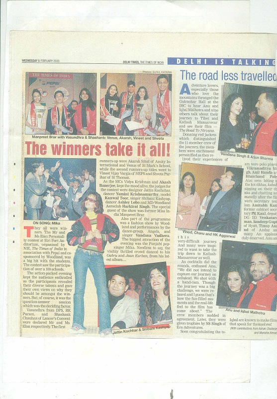 Delhi Times The Times Of India Wednesday 5 Feb 2003