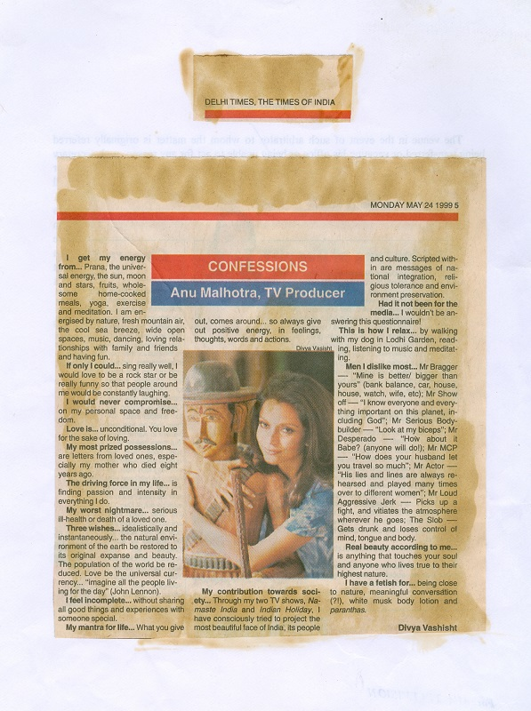 The Times Of India monday May 24 1999