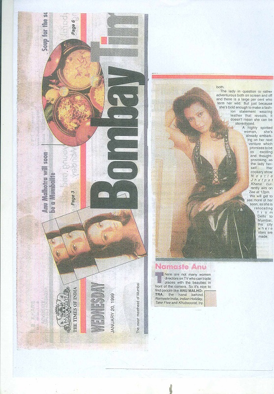 The Times of India january, 20 1999
