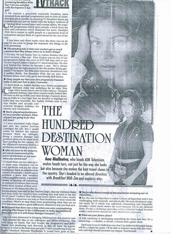 the hundred destination women
